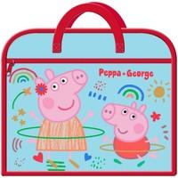 Malas Criança Pasta Peppa Pig  Azul/vermelho