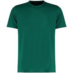 Textil Homem T-Shirt mangas curtas Kustom Kit KK555 Garrafa Verde