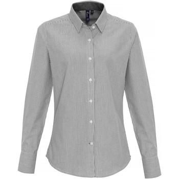 Textil Mulher camisas Premier PR338 Branco/Cinza