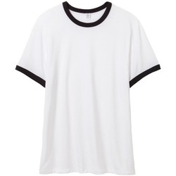Textil Homem T-Shirt mangas curtas Alternative Apparel AT013 Branco/Preto