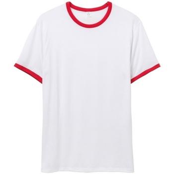 Textil Homem T-Shirt mangas curtas Alternative Apparel AT013 Branco/vermelho