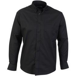 Textil Homem Camisas mangas comprida Absolute Apparel  Preto