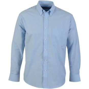Textil Homem Camisas mangas comprida Absolute Apparel  Azul claro