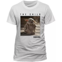 Textil T-Shirt mangas curtas Star Wars: The Mandalorian  Branco