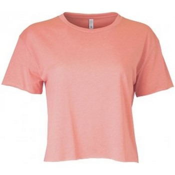Textil Mulher T-Shirt mangas curtas Next Level NX5080 Rosa do Deserto