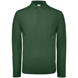 Textil Homem Polos mangas compridas B And C PUI12 Verde de corrida