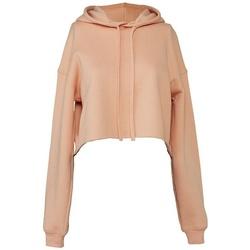 Textil Mulher Sweats Bella + Canvas BL7502 Peach