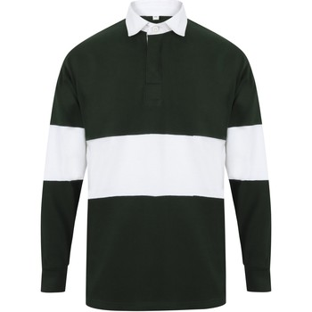 Textil Polos mangas compridas Front Row FR07M Garrafa verde/branca
