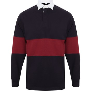 Textil Polos mangas compridas Front Row FR07M Marinha/Burgundy