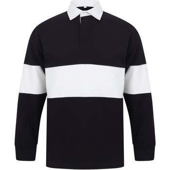 Textil Polos mangas compridas Front Row FR07M Marinha/ Branco