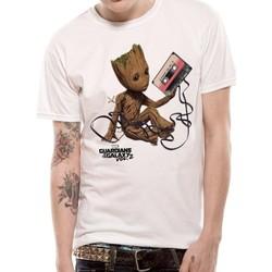 Textil T-shirts e Pólos Guardians Of The Galaxy 2  Branco