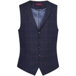 Textil Homem Coletes Brook Taverner BR180 Cheque da Marinha