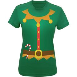 Textil Mulher T-shirts e Pólos Christmas Shop CS143 Verde