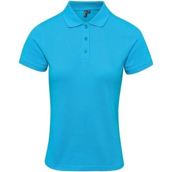 Textil Mulher T-shirts e Pólos Premier PR632 Turquesa
