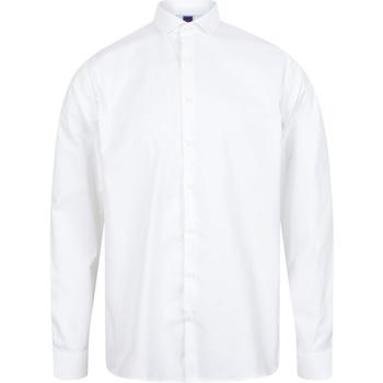 Textil Homem Camisas mangas comprida Henbury HB532 Branco