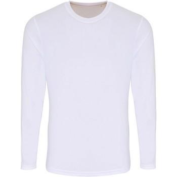 Textil Homem T-shirt mangas compridas Tridri TR050 Branco