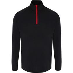 Textil Homem T-shirt mangas compridas Tridri TR110 Preto/Vermelho