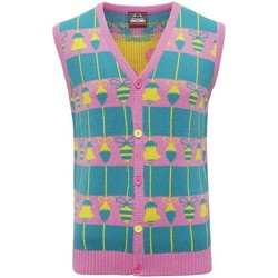 Textil Casacos de malha Christmas Shop CJ009 Rosa/Verde