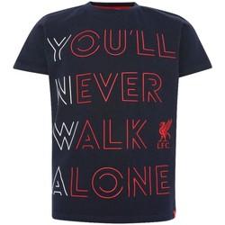 Textil Criança T-shirts e Pólos Liverpool Fc  Marinha/Red
