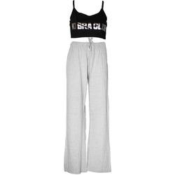 Textil Mulher Pijamas / Camisas de dormir Forever Dreaming  Cinza/Preto