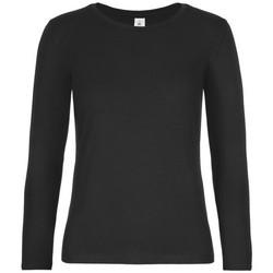 Textil Mulher T-shirt mangas compridas B And C TW08T Preto