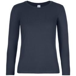 Textil Mulher T-shirt mangas compridas B And C TW08T Marinha