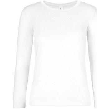 Textil Mulher T-shirt mangas compridas B And C TW08T Branco