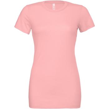 Textil Mulher T-shirts e Pólos Bella + Canvas BE6400 Pink