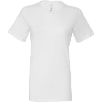 Textil Mulher T-shirts e Pólos Bella + Canvas BE6400 Branco