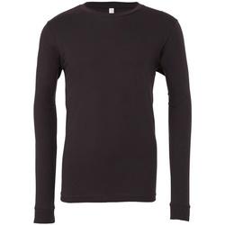 Textil T-shirt mangas compridas Bella + Canvas CA3501 Cinza Escuro