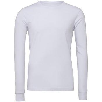 Textil T-shirt mangas compridas Bella + Canvas CA3501 Branco