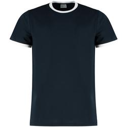 Textil Homem T-shirts e Pólos Kustom Kit KK508 Marinha/ Branco