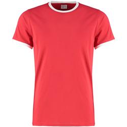 Textil Homem T-shirts e Pólos Kustom Kit KK508 Vermelho/branco