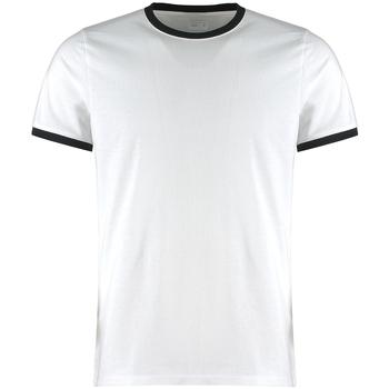 Textil Homem T-shirts e Pólos Kustom Kit KK508 Branco/Preto