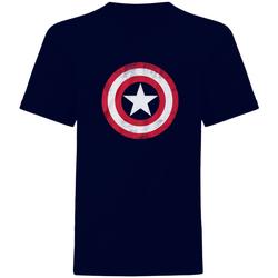Textil T-Shirt mangas curtas Captain America  Marinha/vermelho/branco