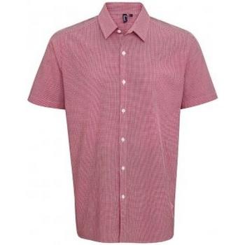 Textil Homem Camisas mangas curtas Premier PR221 Vermelho/branco