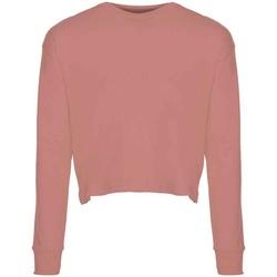Textil Mulher T-shirt mangas compridas Next Level NX7481S Rosa do Deserto