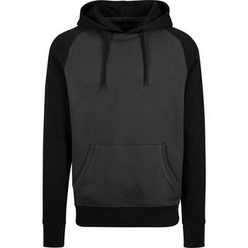 Textil Homem Sweats Build Your Brand BY077 Carvão Vegetal/Preto