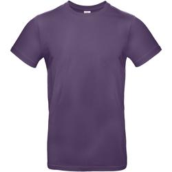 Textil Homem T-Shirt mangas curtas B And C BA220 Púrpura Radiante