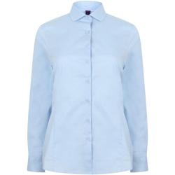 Textil Mulher camisas Henbury HB533 Azul claro