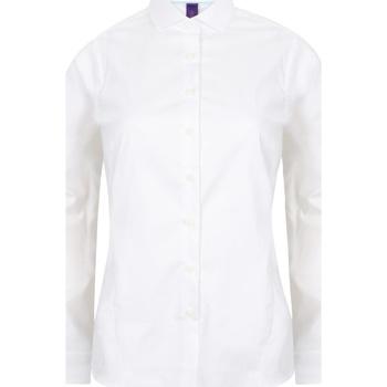 Textil Mulher camisas Henbury HB533 Branco