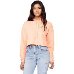 Textil Mulher Sweats Bella + Canvas BE7502 Peach