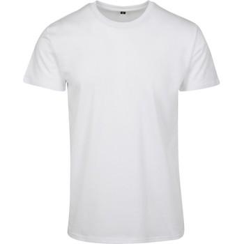 Textil Homem T-Shirt mangas curtas Build Your Brand BY090 Branco