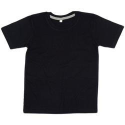 Textil Criança T-Shirt mangas curtas Babybugz BZ090 Preto/Couro Cinza