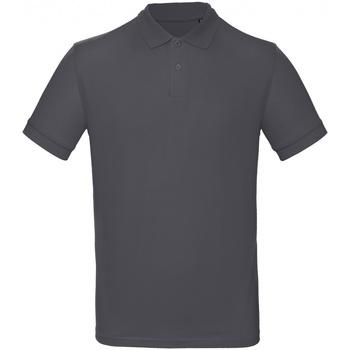 Textil Homem Polos mangas curta B And C PM430 Cinza Escuro