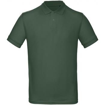 Textil Homem Polos mangas curta B And C PM430 Verde de corrida
