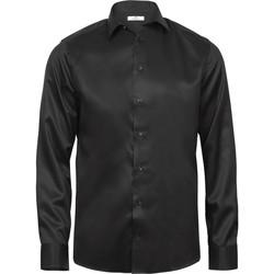 Textil Homem Camisas mangas comprida Tee Jays TJ4020 Preto