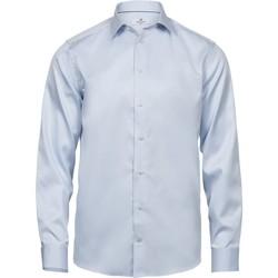 Textil Homem Camisas mangas comprida Tee Jays TJ4020 Azul claro