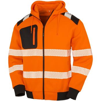 Textil Homem Sweats Result Genuine Recycled R503X Laranja Fluorescente