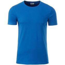 Textil Homem T-Shirt mangas curtas James And Nicholson  Cobalto Azul